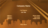 Road and Skyline Silhouette Business Card Template